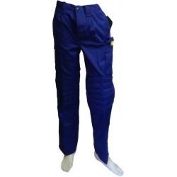 Pantalón de trabajo multibolsillos, reforzado azulina
