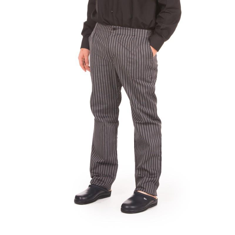 Pantalón de cocina rayas gris y negro 770