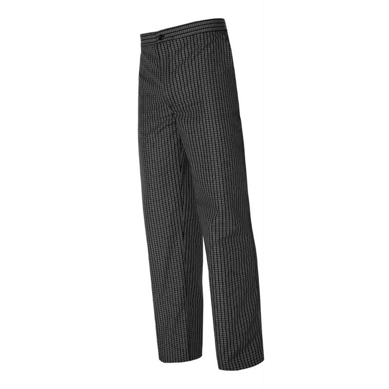 Pantalón clásico cuadros negros elástico