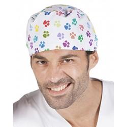 Gorro cirujano huellas blancas