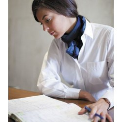 Camisa de mujer con bolsillo manga larga