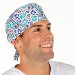Gorro cirujano de tiras fluor