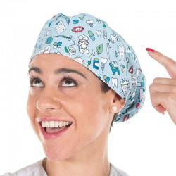 Gorro cirujano con goma dental