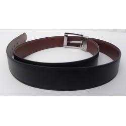 Cinturón reversible de piel