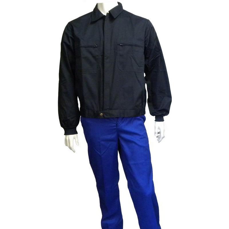 Cazadora de trabajo azul marino puño elástico