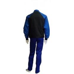 Cazadora de trabajo azul y negra