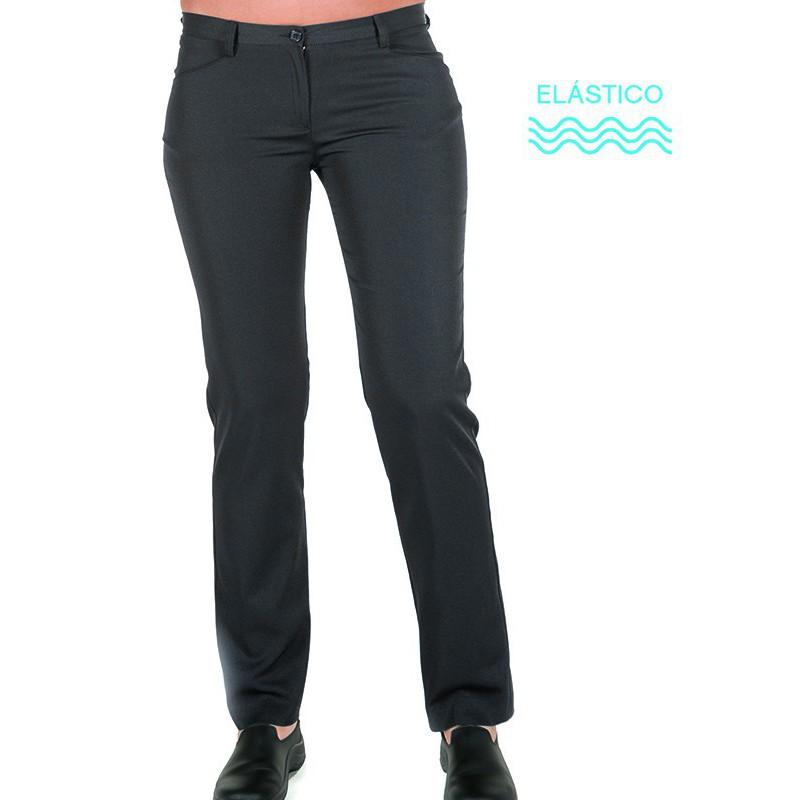 Pantalón bioelástico de mujer bolsillos