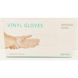 Caja de 100 guantes de vinilo